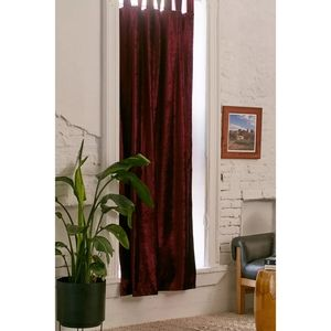 NEW UO Home 2 x Velvet Window Curtains in wine